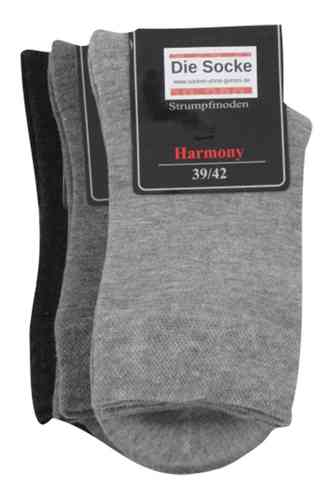 "Art.: 13314 ""Harmony for Women""   ohne Gummi -grau-"